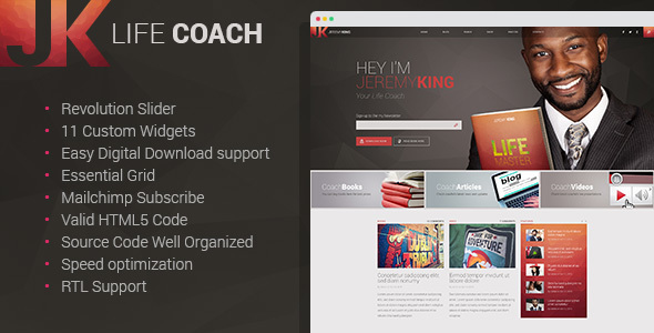 Download Life Coach - Personal Page WordPress theme nulled download