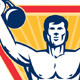 Kettlebell Exercise Weight Training Retro