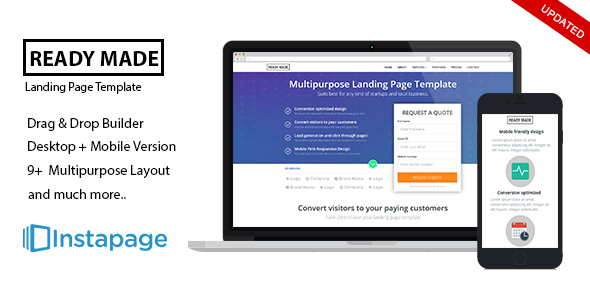 Instapage Multipurpose Landing Page - ReadyMade