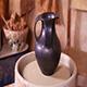Beautiful Clay Potter's Jug Rotating