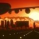 Cape Town South Africa Skyline Sunrise Landing