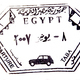Visa passport stamp from Egypt