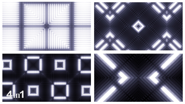 VideoHive White Light Flashing Kaleidoscope 4-Pack 15604867