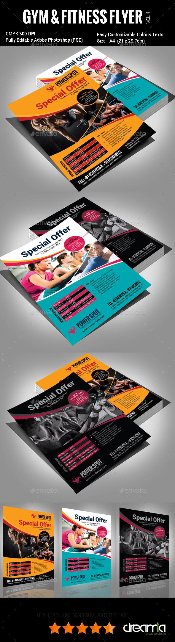 Gym & Fitness Flyer - Vol3
