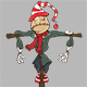 Set of Cartoon Scarecrows for your Design