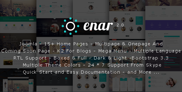 Preview.  large preview - Enar - Responsive Multi-Purpose Joomla Template
