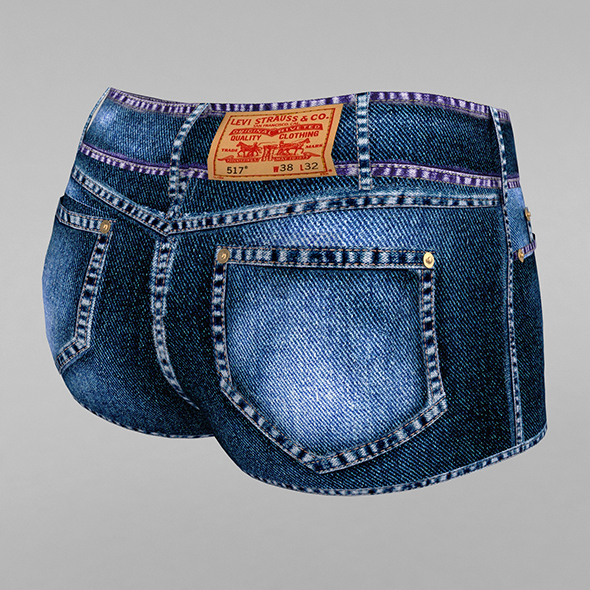 Jeans shorts - 3DOcean Item for Sale