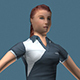 Sportive Girl (Low Poly)