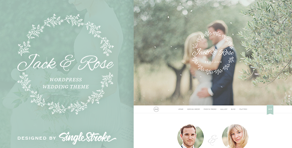 21 - Jack & Rose - A Whimsical WordPress Wedding Theme