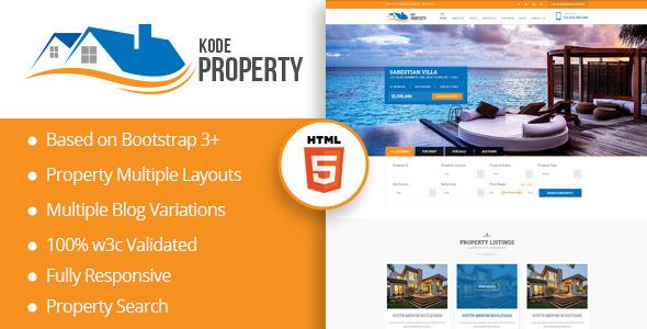 KodeProperty - Real Estate Multipurpose HTML5 Theme