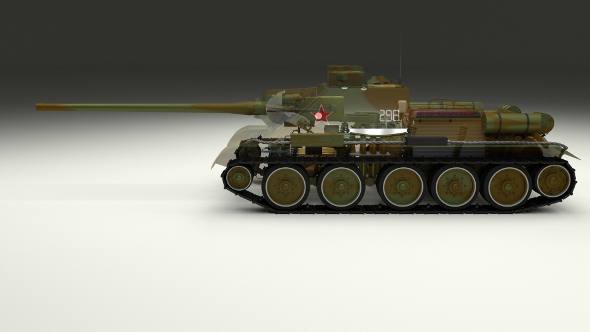 SU 100 Interior/Engine Bay Full Camo - 3DOcean Item for Sale