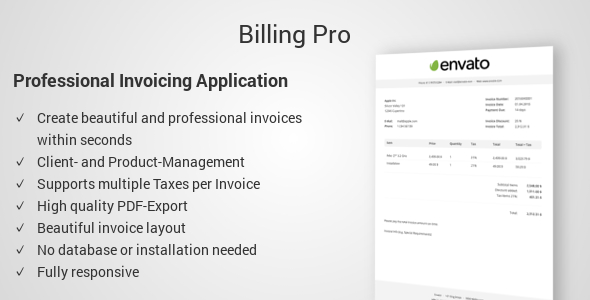 Download Billing Pro - Professional Invoicing Application nulled download