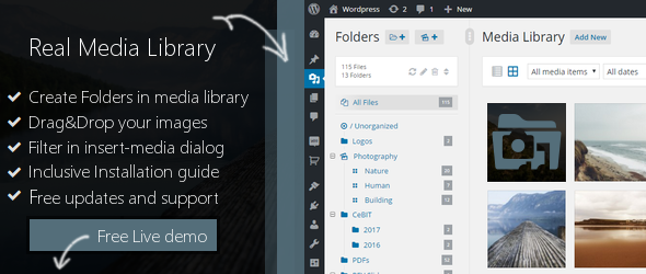 WP Real Media Library - Media Categories / Folders