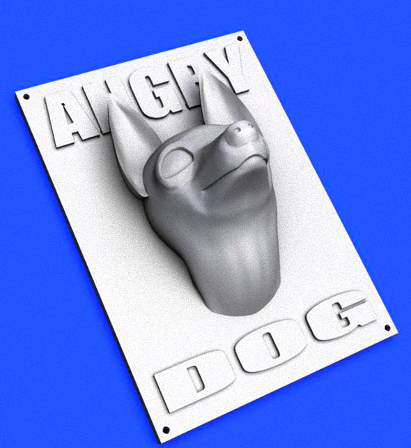3DOcean Angry Dog Sign printable 15614266
