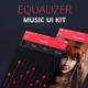 Equalizer – Music App UI Kit PSD