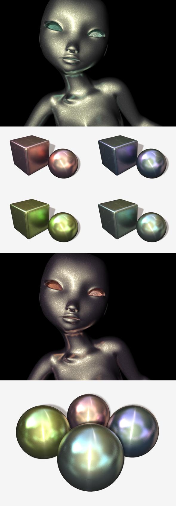 4 Alien Metals  - 3DOcean Item for Sale