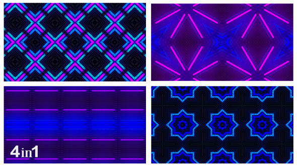 VideoHive Light Flashing Abstract 4-Pack 15614568