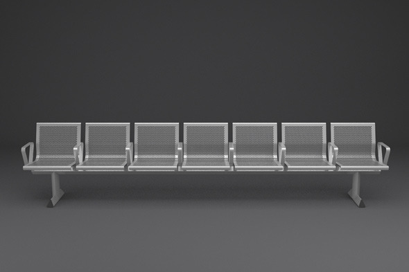 3DOcean Perforated Steel Station Seating 1560853