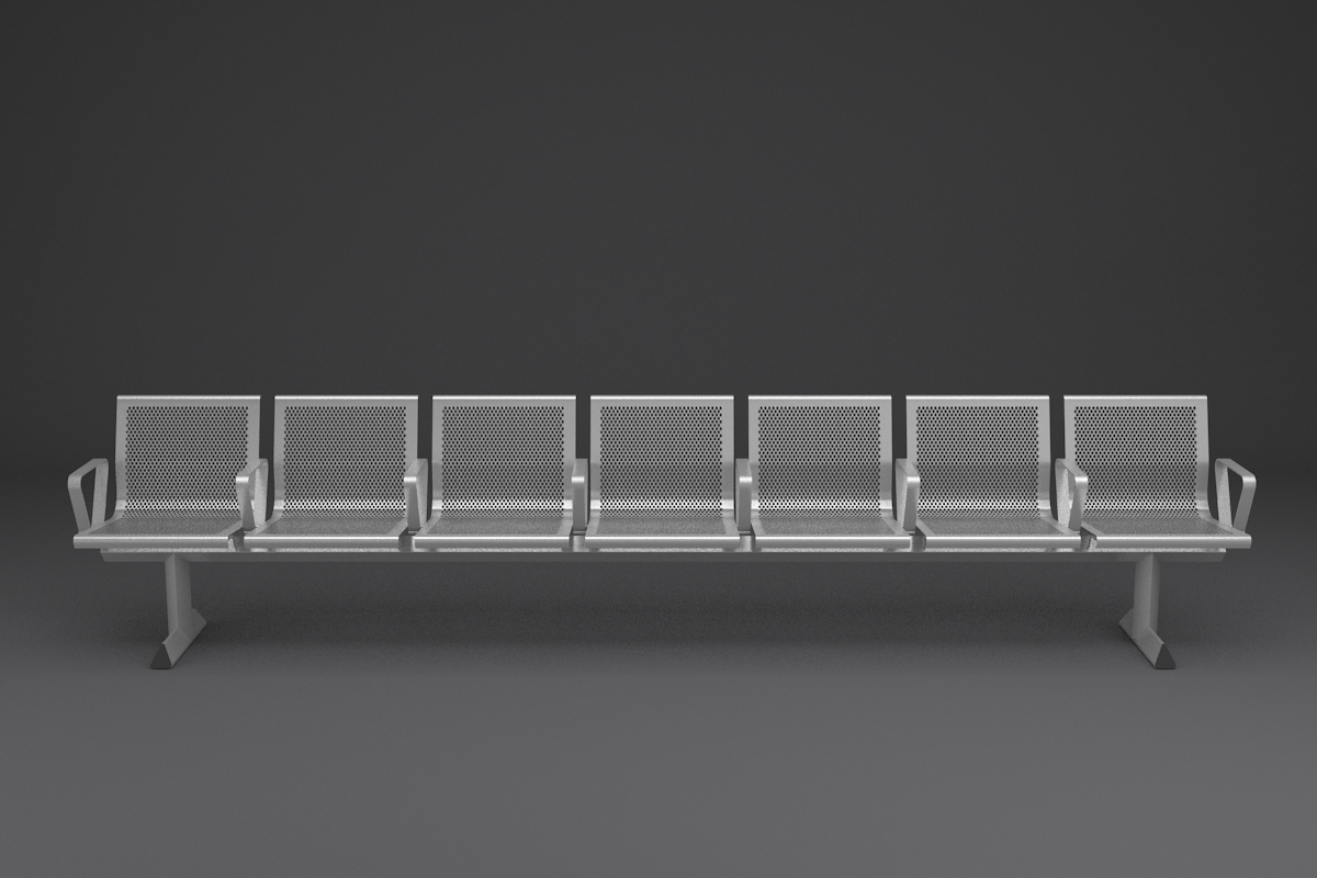 Perforated Steel Station Seating