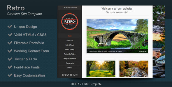 Retro - HTML5 Template - Screenshot 1
