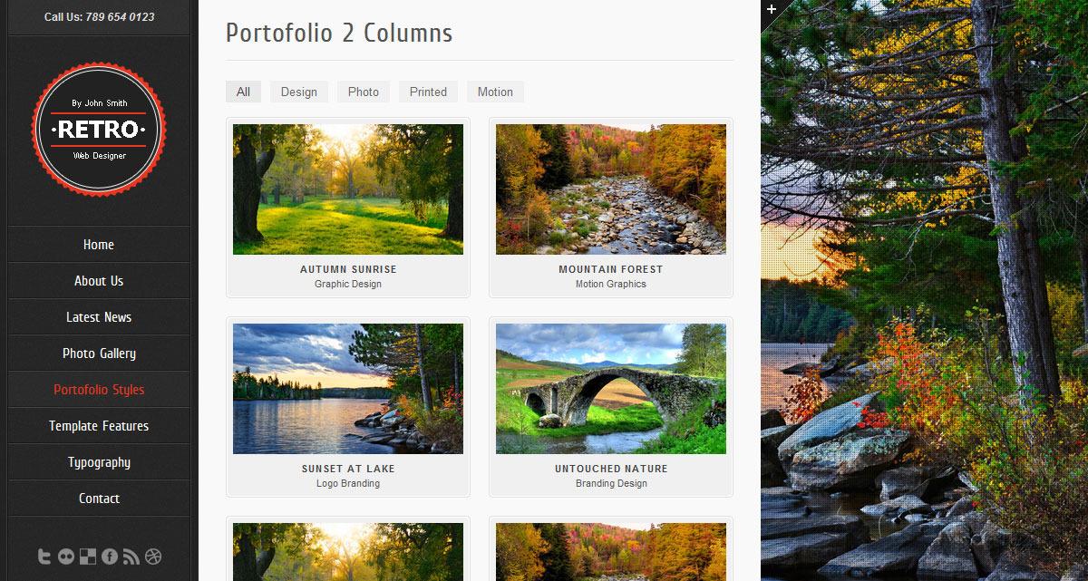 Retro - HTML5 Template - Screenshot 4