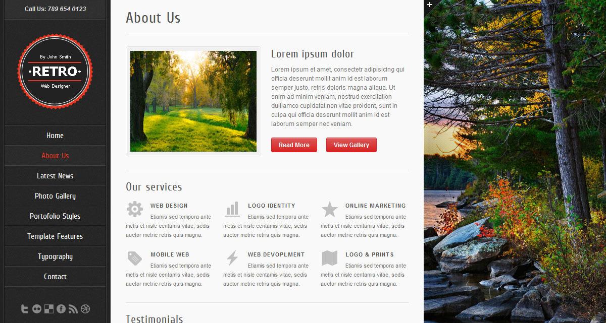 Retro - HTML5 Template - Screenshot 5