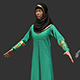 3D female Arabic Costume
