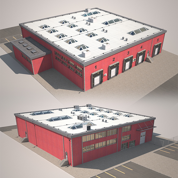 Cargo Building - 3DOcean Item for Sale