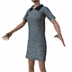 3D female Dress