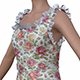3D female flower dress