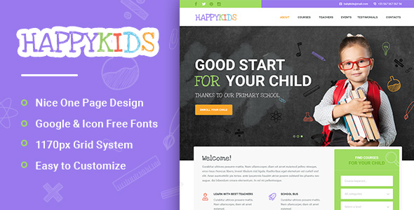 HappyKids – Primary School For Children PSD