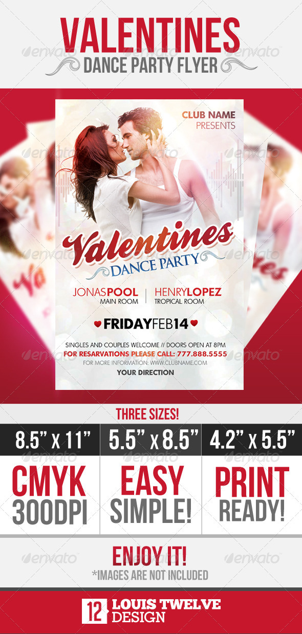 Valentines Dance Party Flyer Graphicriver