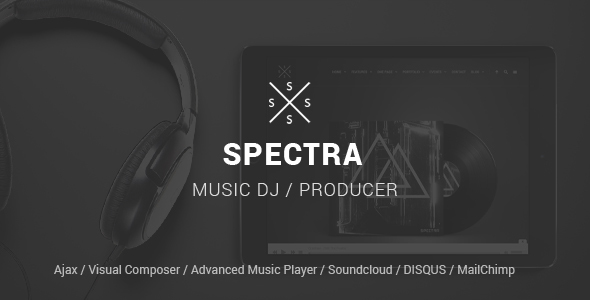 Spectra - WordPress Music & Events Theme