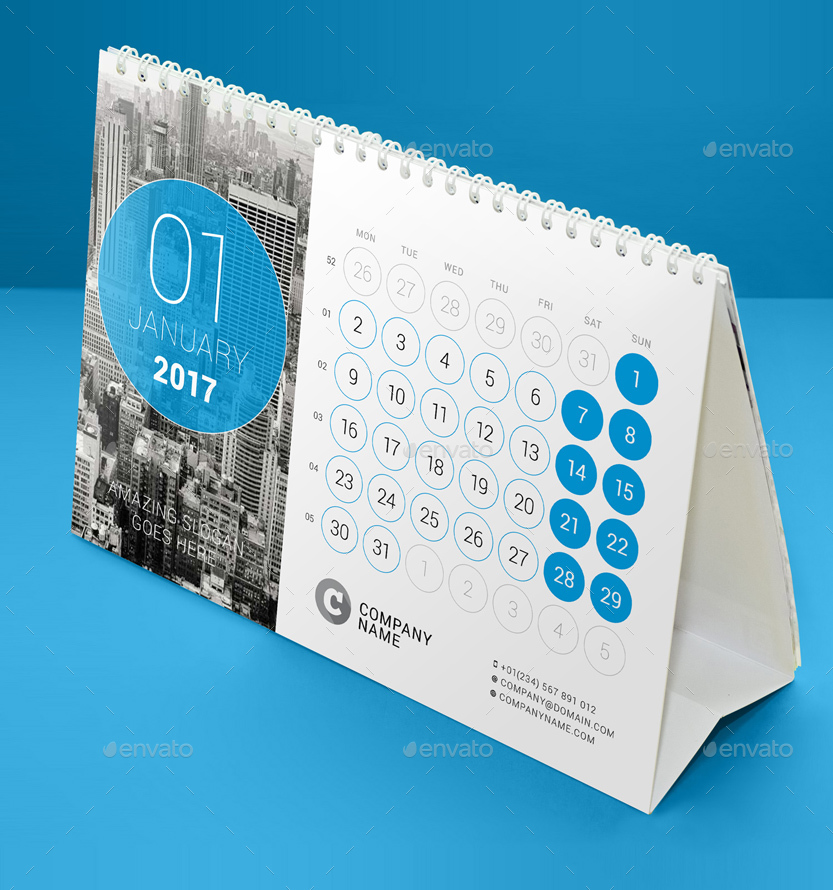 Calendar Design Software Free Download : Desk calendar by mikhailmorosin graphicriver