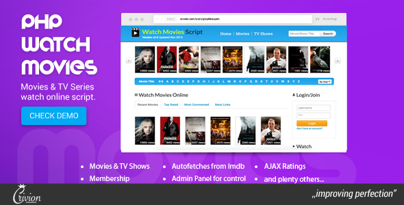 Download PHP Watch Movies Script nulled download