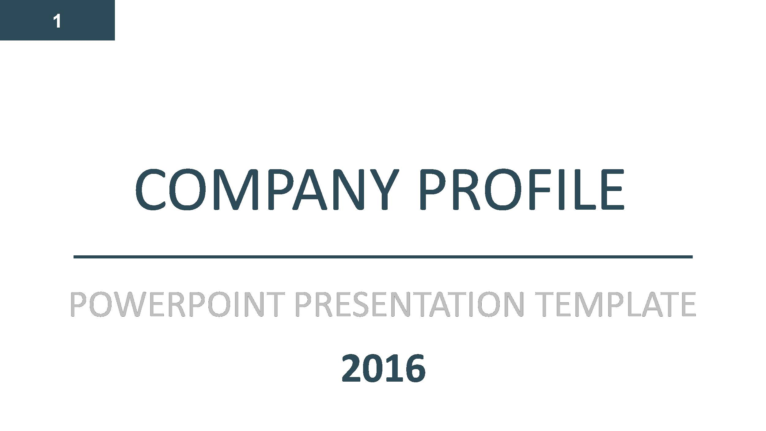 Company Profile PowerPoint Presentation Template By