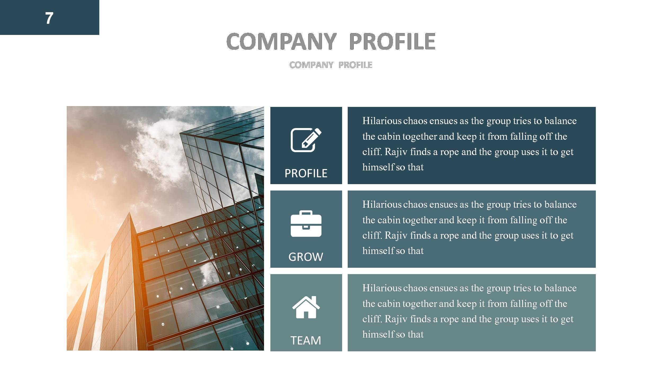 how to make a company profile template - company profile powerpoint presentation template by
