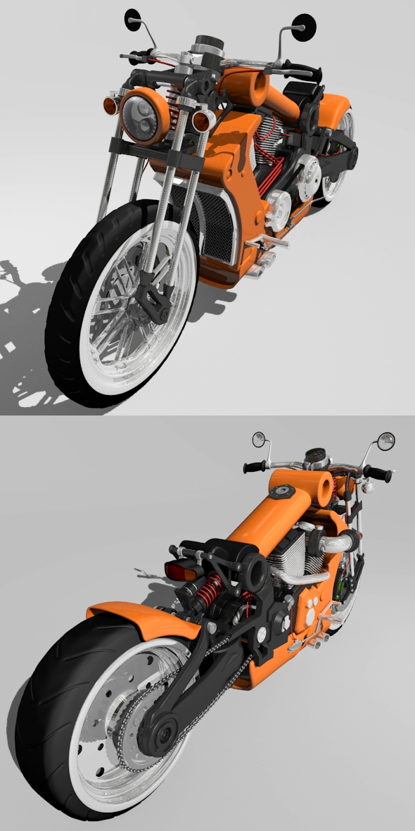 custom motorcycle - 3DOcean Item for Sale