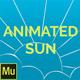 Animated Sun Widget for Adobe Muse