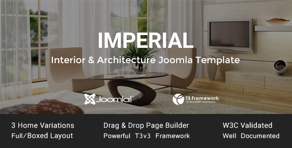 Imperial - Interior & Architecture Joomla Template
