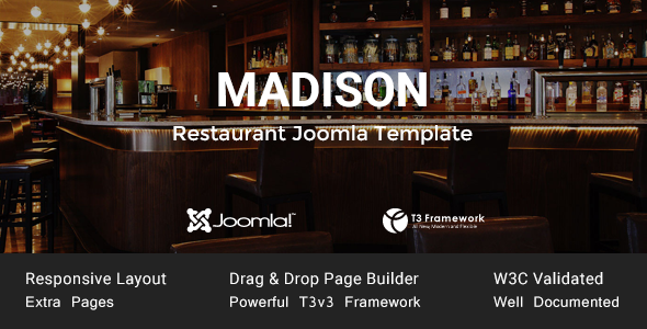 Madison - Joomla Restaurant Template