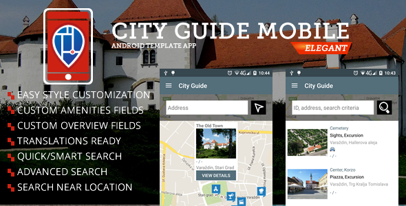 Download City Guide Android Template  nulled download