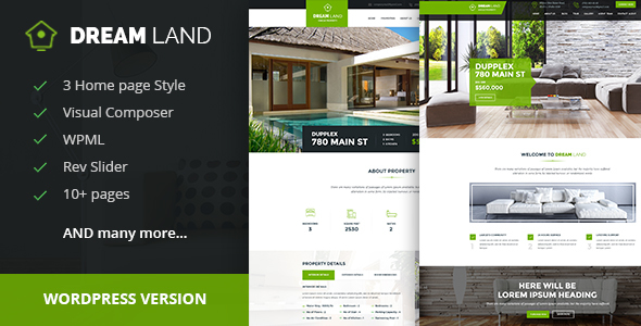 6 - DREAM LAND- Single Property Real Estate WordPress Theme