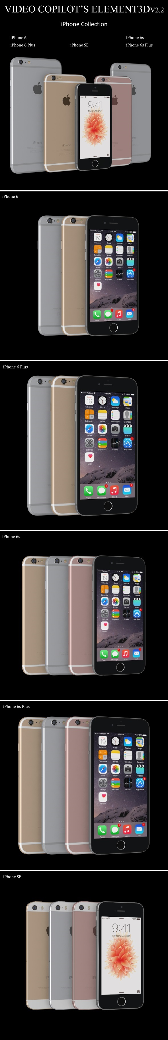 Element3D - iPhone Collection - 3DOcean Item for Sale
