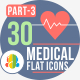 30 Medical Flat Icons part-3