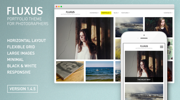 01 Banner.  large preview - Fluxus - Portfolio Theme for Photographers