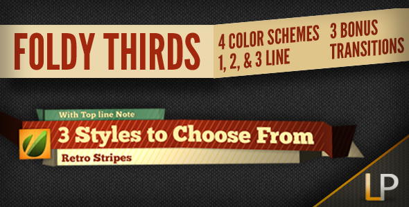 After Effects Project - VideoHive Foldy Lower Thirds 1563945