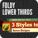 Foldy Lower Thirds - VideoHive Item for Sale