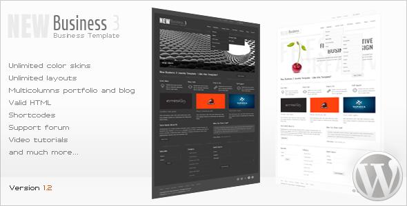 New Business 3 - Wordpress Premium Theme