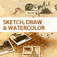 Sketch, Draw & Watercolour Photoshop Action